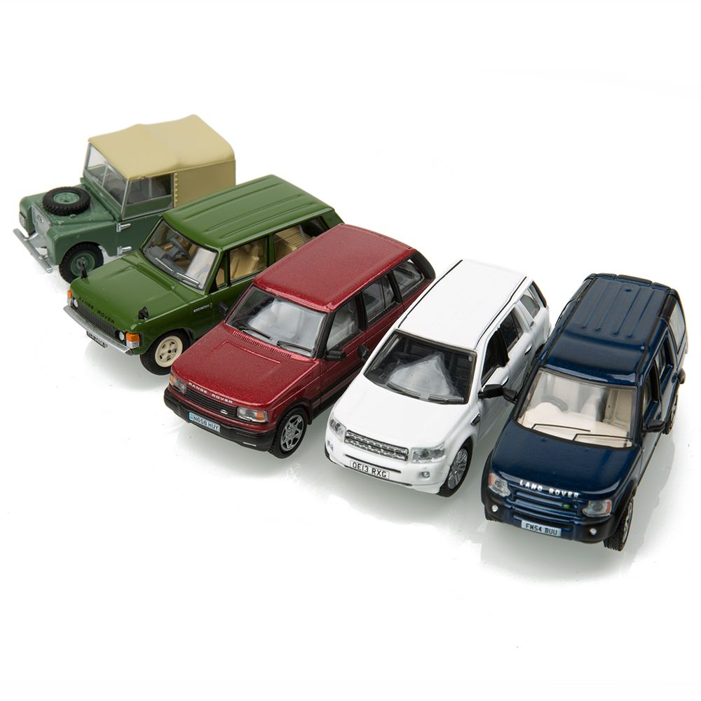 Land Rover Classic 5 Piece Set 1:76 Scale Model