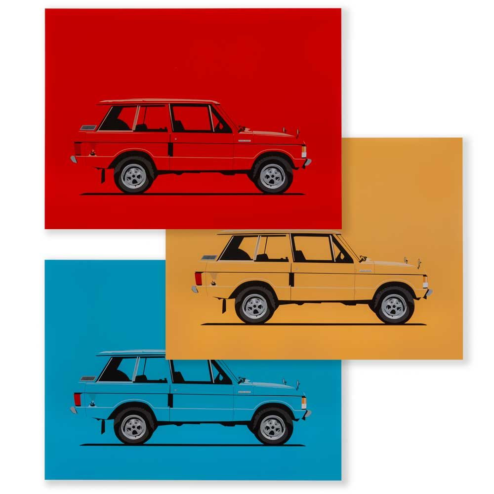 Limited Edition Range Rover Classic Artwork - Set of Three (300 x 400mm)