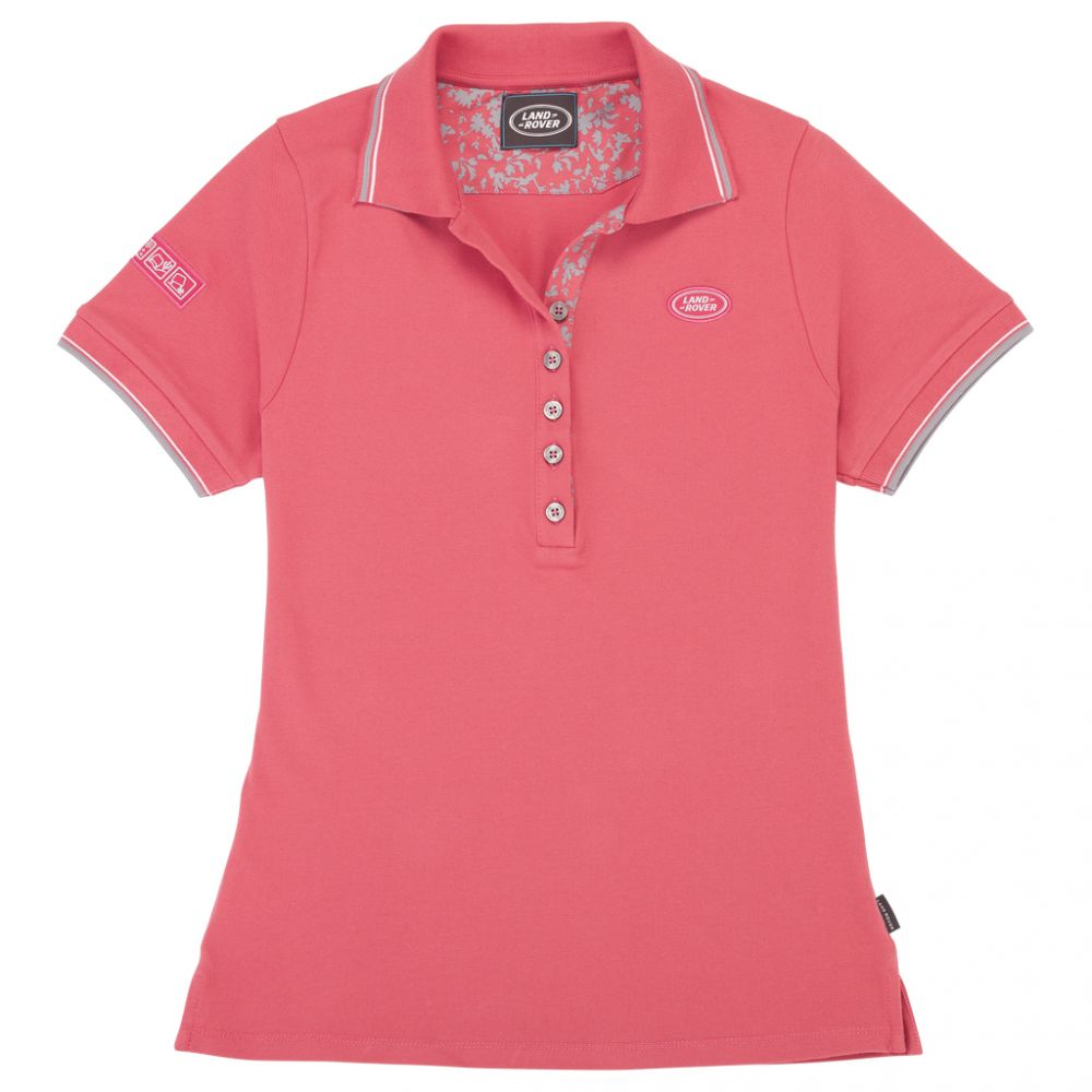 Women's Emblem Polo, Red