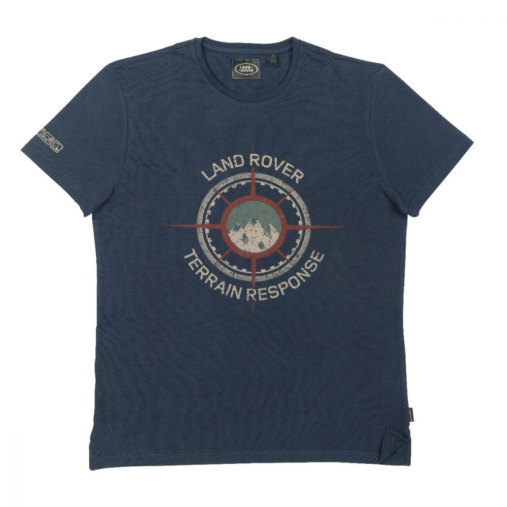 Men's Terrain Graphic T-Shirt - Navy