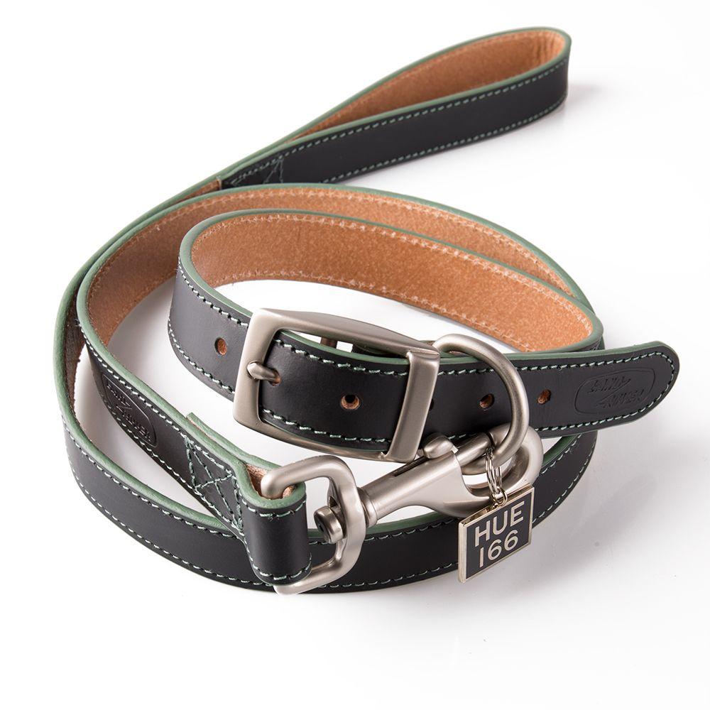 Hue Leather Dog Collar & Lead Set